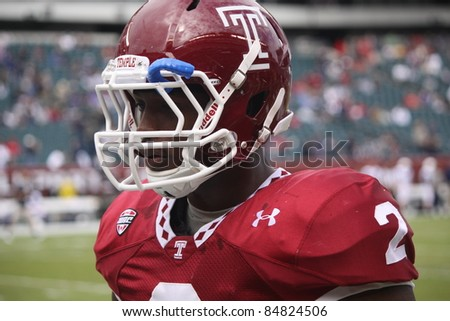 PHILADELPHIA, PA. - SEPTEMBER 17: Temple linebacker Tahir Whitehead walks off the field after a loss against  Penn State on September 17, 2011 at Lincoln Financial Field in Philadelphia, PA.