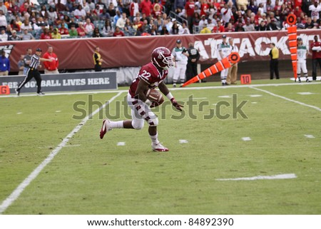 PHILADELPHIA, PA. - SEPTEMBER 17: Temple's Matt Brown fields a punt against Penn State on September 17, 2011 at Lincoln Financial Field in Philadelphia, PA. - stock photo