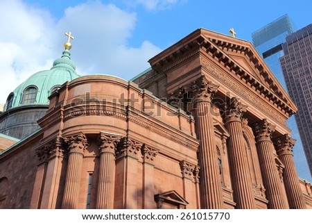 Philadelphia, Pennsylvania in the United States. Cathedral basilica of Saint Peter and Paul. - stock photo