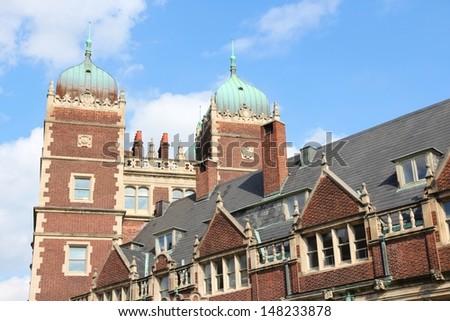 Philadelphia, Pennsylvania (United States) - Pennsylvania State University (Penn State). Quadrangle architecture. - stock photo