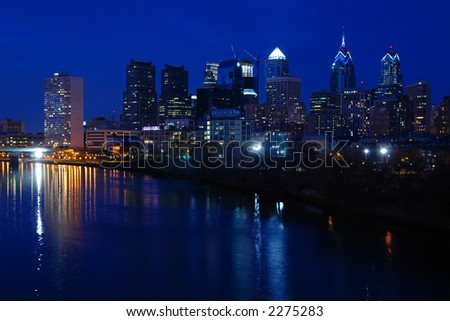 Philadelphia Skyline Nightscape