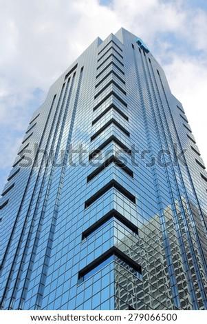 PHILADELPHIA, USA - JUNE 11, 2013: G. Fred DiBona Jr. Building in Philadelphia. Independence Blue Cross is the main tenant of the skyscraper. - stock photo