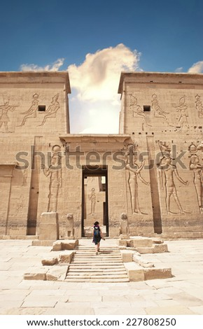 Philae Temple, Egypt  - stock photo