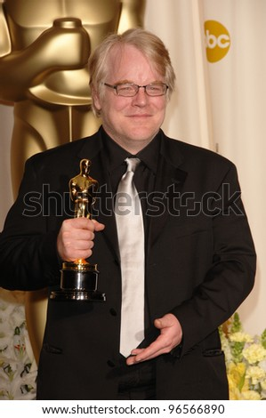 PHILIP SEYMOUR HOFFMAN at the 78th Annual Academy Awards at the Kodak Theatre in Hollywood. March 5, 2006  Los Angeles, CA  2006 Paul Smith / Featureflash - stock photo