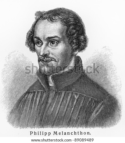Philipp Melanchthon - Picture from Meyers Lexicon books written in German language. Collection of 21 volumes published  between 1905 and 1909.