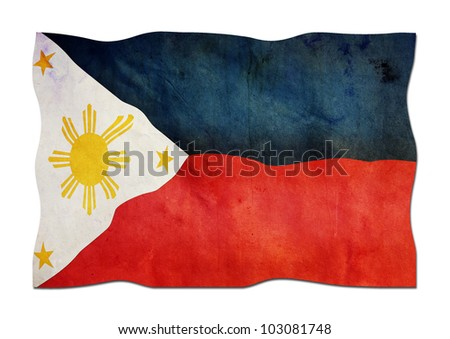 Philippine Flag made of Paper - stock photo