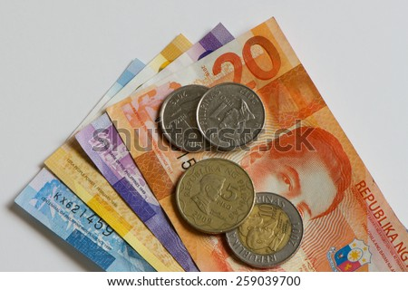 Philippine Money  - stock photo