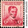 PHILIPPINES - CIRCA 1935: A stamp printed in Philippines - United States Administration shows image of Dr Jose Rizal, series, circa 1935 - stock photo