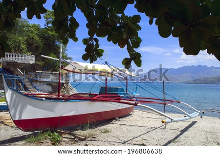 Philippines Fishing Boat on the Beach. Olongapo City.