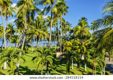 Philippines garden resort, South of the Philippines - stock photo