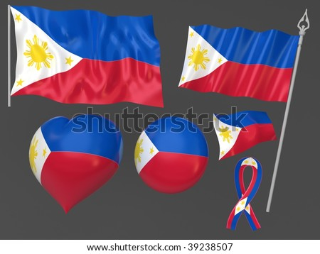 Philippines,    Manila flag national symbolic