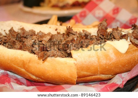 Philly Cheesesteak - stock photo