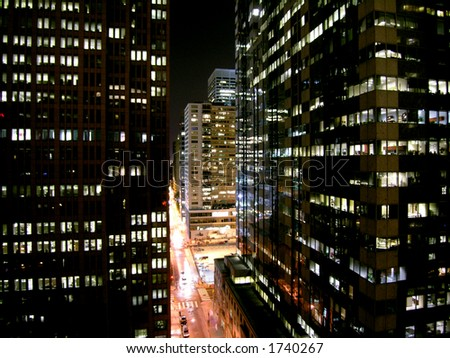 Philly up late. - stock photo
