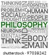 Philosophy concept in word tag cloud on white background - stock vector