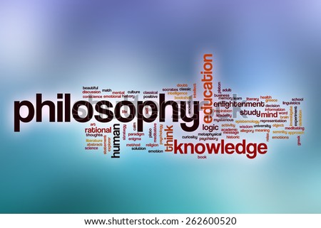 Philosophy word cloud concept with abstract background - stock photo
