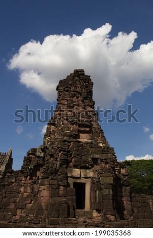 Phimai Sanctuary, Nakhon Ratchasima, Thailand,Phimai Hin Phimai was a Mahayana Buddhist sanctuary. - stock photo