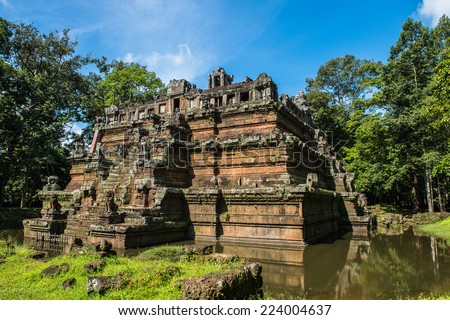 Phimeanakas or Vimeanakas  at Angkor, Cambodia, is a Hindu temple in the Khleang style, built at the end of the 10th century, during the reign of Rajendravarman