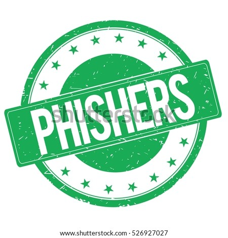 PHISHERS stamp sign text word logo green.