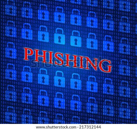 Phishing Hacked Representing Hacking Theft And Security