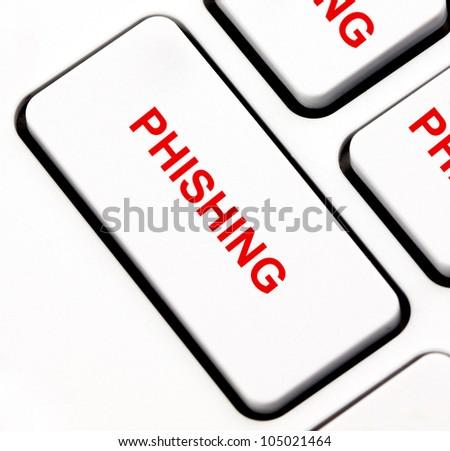 Phishing keyboard key - stock photo
