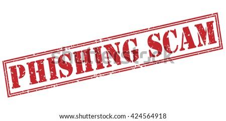phishing scam stamp - stock photo