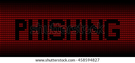 Phishing text on red laptops background illustration