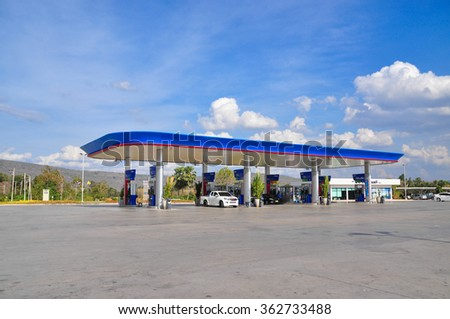 Phitsanulok Province, Thailand 15 January 2016 : PTT gas station in Wang Tong district Phitsanulok province, Thailand
