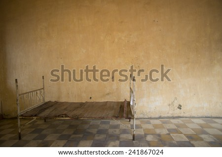 PHNOM PENH, CAMBODIA NOV 17: Tuol Sleng prison of the Khmer Rouge high school S-21 turned into a torture and execution center on November 17, 2014 in Phnom Penh, Cambodia.  - stock photo