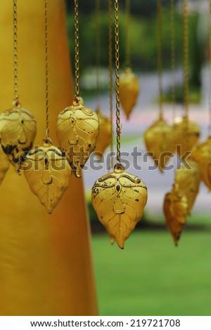 Pho leaf Gold - stock photo