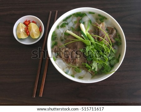 Pho - Traditional Vietnamese beef noodle soup