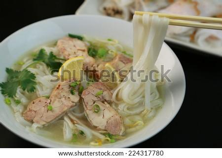 pho/Vietnamese cuisine - stock photo