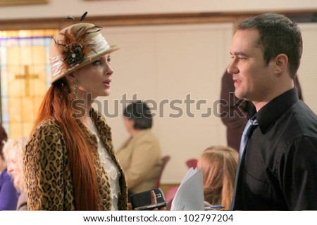 "Phoebe Price and Derek Wayne Johnson on the set of the upcoming feature film ""Stanley DeBrock,"" private Location, Diane, TX. 03-21-10 Photo Courtesy Mindy Bledsoe - DailyCeleb.com 818-249-4998"