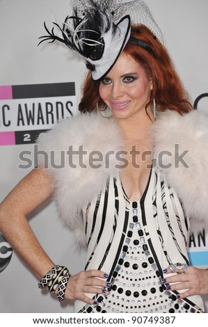 Phoebe Price arriving at the 2011 American Music Awards at the Nokia Theatre, L.A. Live in downtown Los Angeles. November 20, 2011  Los Angeles, CA Picture: Paul Smith / Featureflash