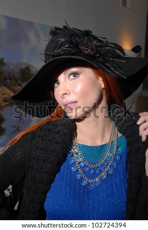 Phoebe Price  at a trunk show featuring Designs by Phoebe Price hats and Stella and Dot Jewelry by Jennifer Blanc, Private Location, Hollywood, CA. 03-14-10,