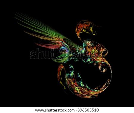Phoenix abstract illustration - stock photo