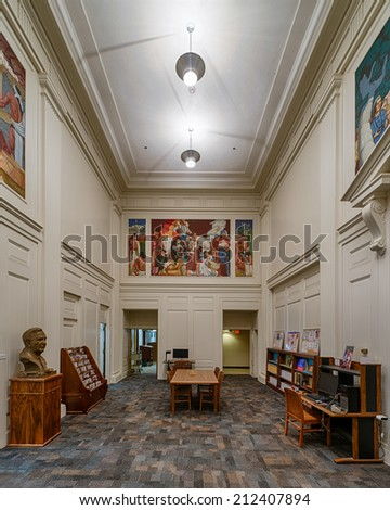 PHOENIX, ARIZONA - AUGUST 6:Arizona State Library in the Arizona State Capitol building on August 6, 2014 in Phoenix, Arizona - stock photo