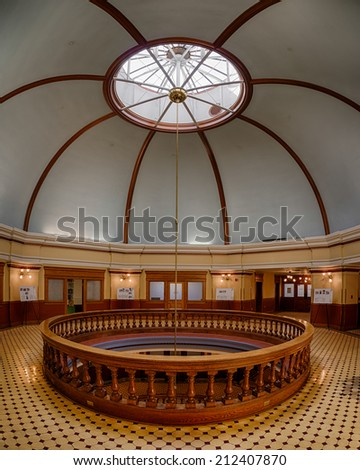 PHOENIX, ARIZONA - AUGUST 6: Inner dome from the rotunda of the Arizona State Capitol building on August 6, 2014 in Phoenix, Arizona - stock photo
