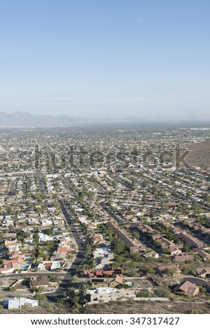 Phoenix, Arizona from hill