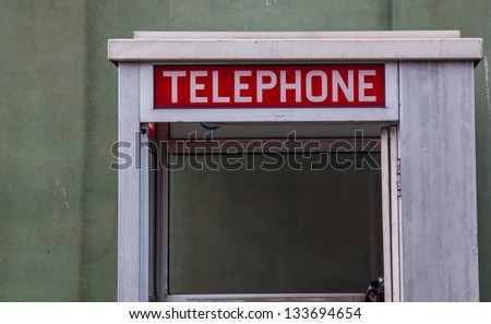 Phone box sign
