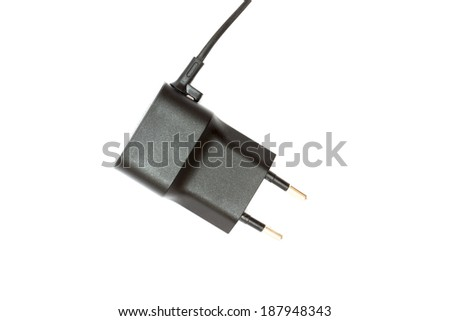 phone charger on a white background