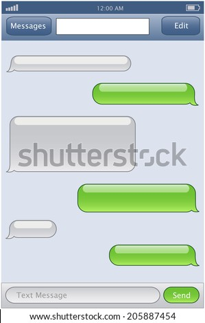 phone chat template - stock photo