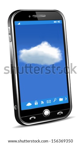 Phone Cloud Concept - Raster version - stock photo