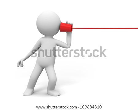 Phone/communication/A people in listening to call - stock photo
