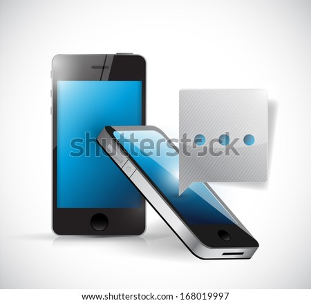 phone communication concept illustration design over a white background