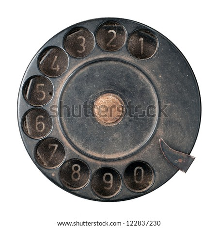 phone disk on a white - stock photo