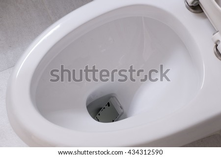 phone fell.smart phone wet fell in the toilet bowl.
