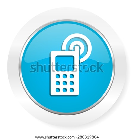 phone icon mobile phone sign  - stock photo
