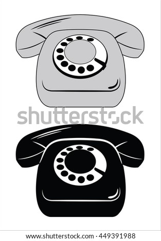 phone icon set - stock photo