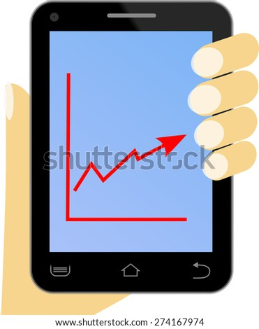 Phone in hand with diagram