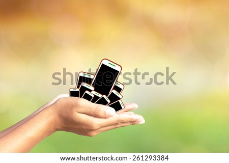 Phone in hands